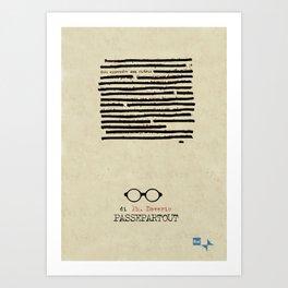 Passepartour, Philippe Daverio, tv series, rai, Poster, Locandina, Quark, Piero Angela, Rai tre Art Print