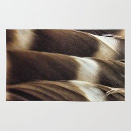 Barred Owl Feathers Rug