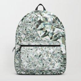 White Diamond Abstract Art Pattern 05 Backpack