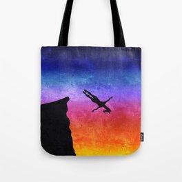 Cliff Dive Unicorn Tote Bag