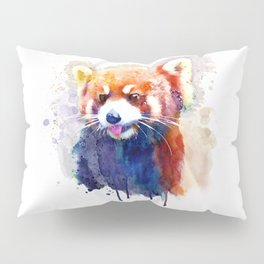 Red Panda Portrait Pillow Sham