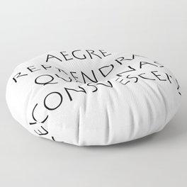 Aegre reprendras quo sinas consuescere Floor Pillow