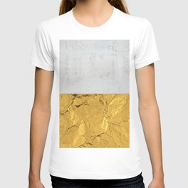 Gold Foil and Concrete T-shirt