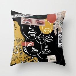 Manifesto Collage Throw Pillow