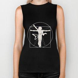 Vitruvian Electric Guitar Man T-Shirt Rock Music Gift Biker Tank