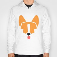 corgi Hoodies featuring corgi by modern arf