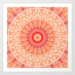 Mandala soft orange Art Print