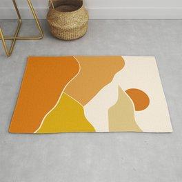 Orange minimal landscape Rug