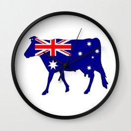 Australian Flag - Cow Wall Clock