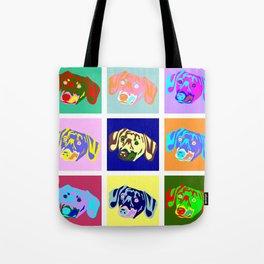 Dachshund Pop Art Tote Bag