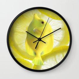 Lemon Fish Wall Clock