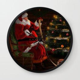 Santas List Wall Clock