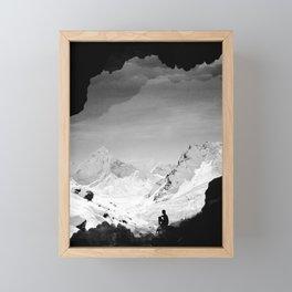Snowy Isolation Framed Mini Art Print