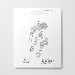 Adjustable Golf Club Head Vintage Patent Hand Drawing Metal Print