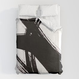 Abstract Wall art, Abstract Print, Black White Abstract Print, Black White Art, Minimalist Print, Ab Duvet Cover