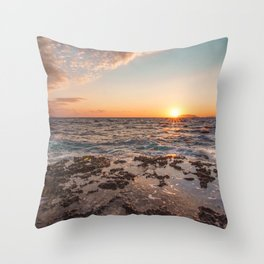 Peaceful atmosphere at sunset Throw Pillow