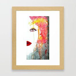 Angry Girl Framed Art Print