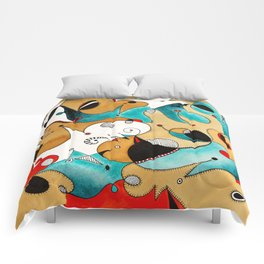 Abstract Tea Critters Comforters