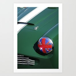 Union Jack Headlight Art Print