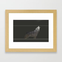 Howling WOlf Framed Art Print