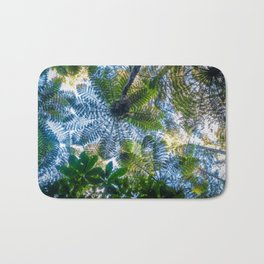 Giant ferns in redwood forest, Rotorua, New Zealand Bath Mat