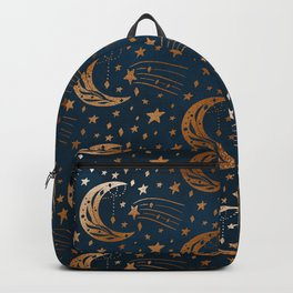 Rose Gold Moon & Star Pattern   Backpack