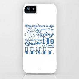 Cycling Uncle iPhone Case