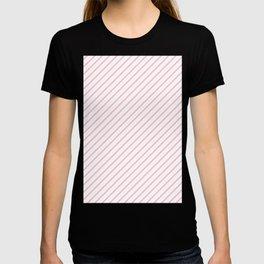 Diagonal Lines (Pink/White) T-shirt