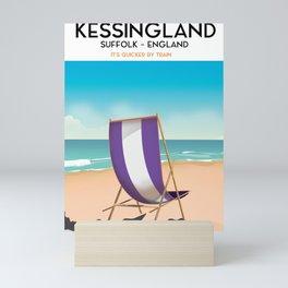 Kessingland, suffolk seaside poster. Mini Art Print