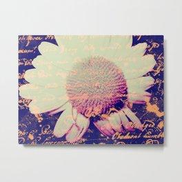Flower Scripts Metal Print