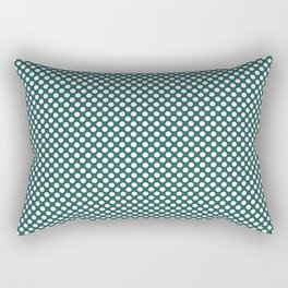 Bayberry and White Polka Dots Rectangular Pillow