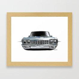 Car Sketch Framed Art Print