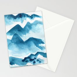 Mountain blue Stationery Cards