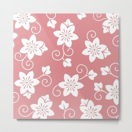 Pink And White Lillies Metal Print