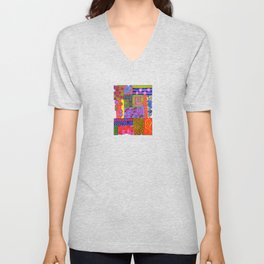 A Bit of Patchwork Unisex V-Neck