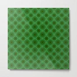 Green Matrix Cells Metal Print