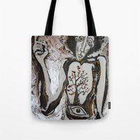 cassandra jean Tote Bags featuring Cassandra. by Evilop