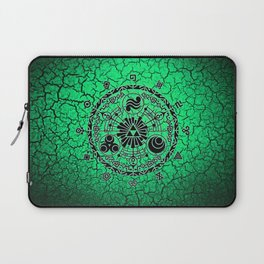 Green Circle Of Triangle Laptop Sleeve