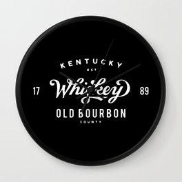 Old Bourbon Whiskey Wall Clock