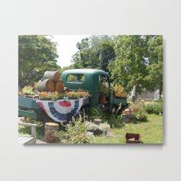 A Vintage Garden Metal Print