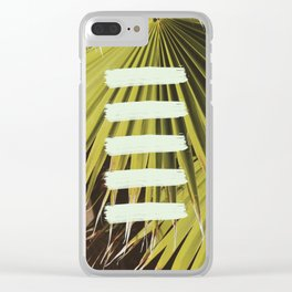Tropical Minimalism Clear iPhone Case