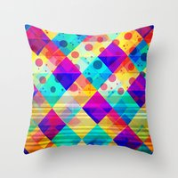 circus Throw Pillows featuring Circus by Sandra Arduini