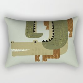 Whimsy Crocodile Rectangular Pillow