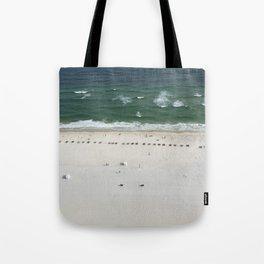 Beach Below Tote Bag