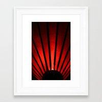 lantern Framed Art Prints featuring Lantern by Ellelao