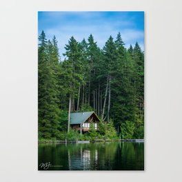 Lakeside Cabin Canvas Print