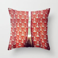 Orange Cats Throw Pillow