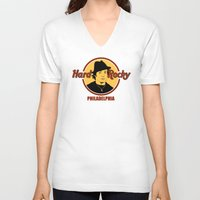 philadelphia V-neck T-shirts featuring Rocky - Philadelphia by Buby87