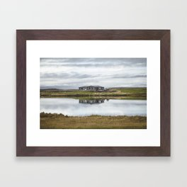 Reflection of Iceland. || Travel Shots. || Symmetry. || Blues Sky. || MadaraTravels Framed Art Print