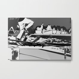 Off the Rails   - Skateboarder Metal Print